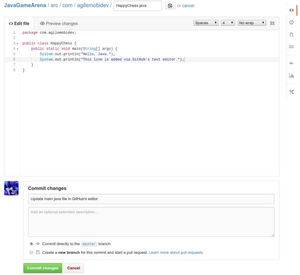 在GitHub中修改源文件